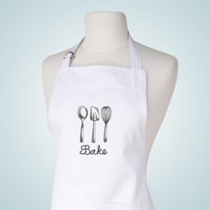 Engravings Embroidered White Aprons