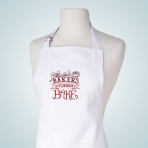 Spice It Up I Embroidered White Aprons