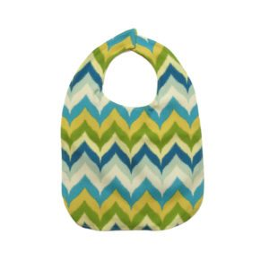 Blue & Green Chevron Adult Bib