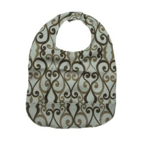 Teal & Brown Adult Bib