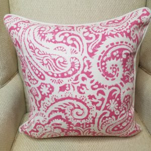 Hot Pink Paisley Pillow