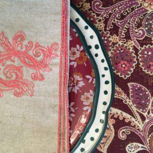 Oatmeal & Coral Linen Napkins
