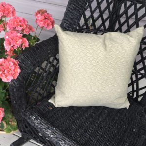 Tan Geometric (indoor/Outdoor) Pillow