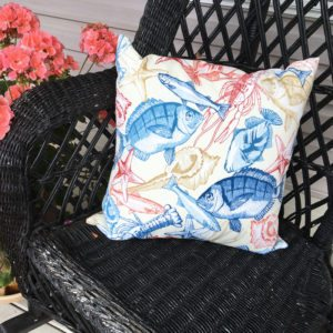 Ivory Ocean Life (indoor/Outdoor) Pillow