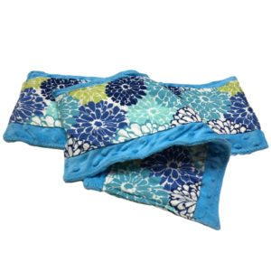 2 Flower Power Burp Cloths