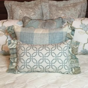 Subdued Aqua Pillow Collection