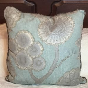 Silk Subtle Floral Pillow