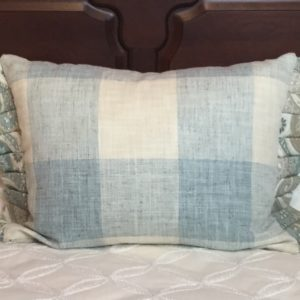 Baby Blue & Cream Buffalo Plaid Pillow