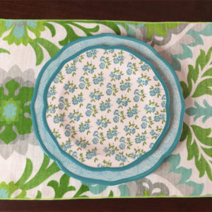Lime & Turquoise Floral Placemat