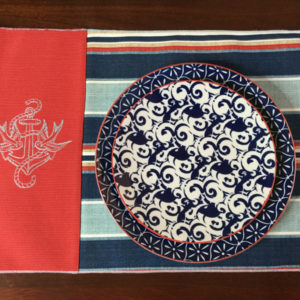 Red Nautical Placemat