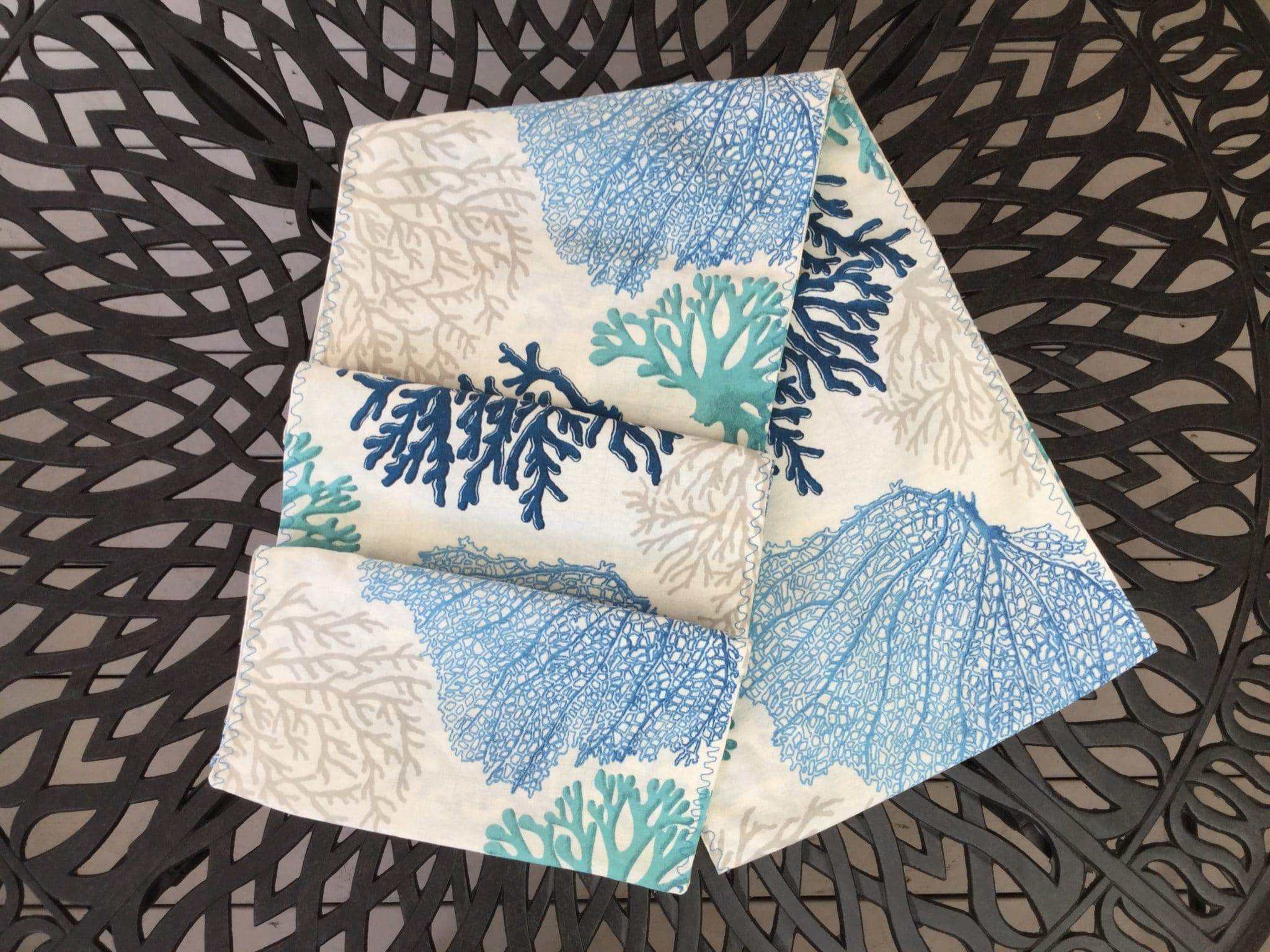 Blue Coral Table Runner