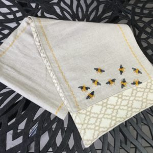 Gold & Black Bumblebee Table Runner