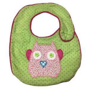 Pastel Owls Bib