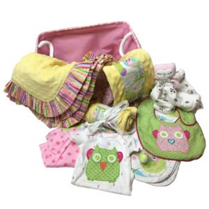 Pastel Owls Layette