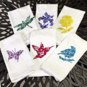 A Flight of Flora Dish/Hand Towels Collection