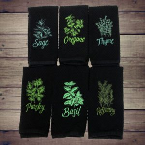 Culinary Herbs Dish/Hand Towels Collection