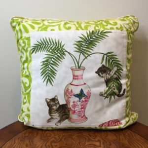 Lime Vine Cat's Life Pillow