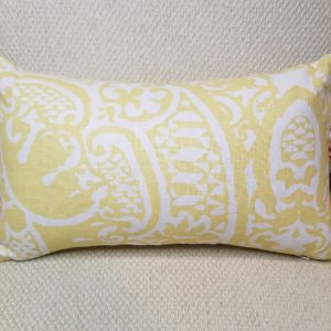 Aztec Yellow Pillow with knife pleats