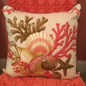 Coral with Shells Pillow