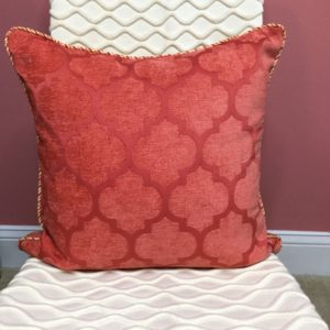 Coral Velvet tone on tone Pattern Pillow