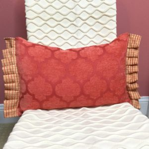 Coral Velvet Pattern Pillow
